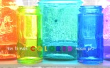 Small Life, Slow Life: How to Make DIY Colored Mason Jars! {Photos!}