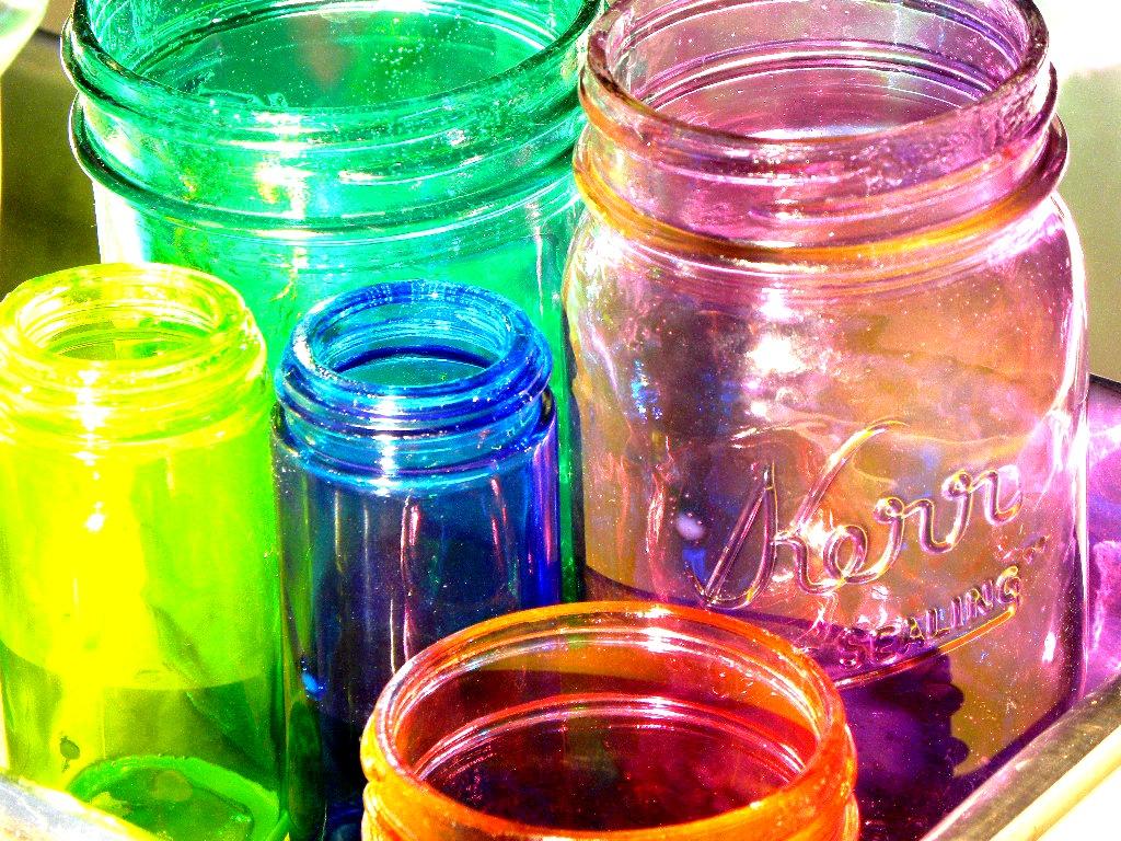 Small Life Slow Life How To Make Diy Colored Mason Jars