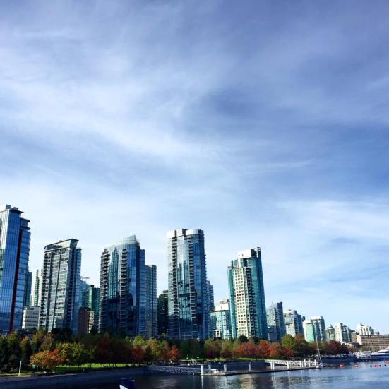 This is not a stock image: I actually took this photo of the Vancouver skyline. It is stunningly beautiful.